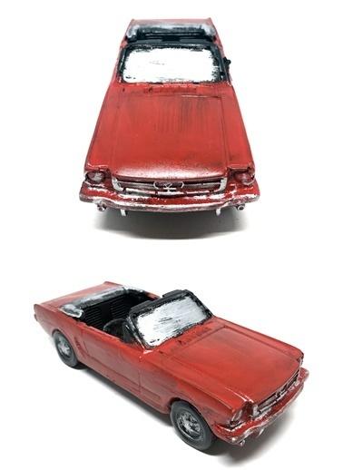 DecoTown Decotown Nostaljik Üzeri Açık Araba Biblo Renkli